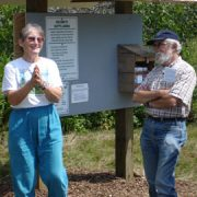 IHT Stewardship Chair Ann Hooke shows her glee with the opening of Scott's Landing in August. Photo by Mac Herrling