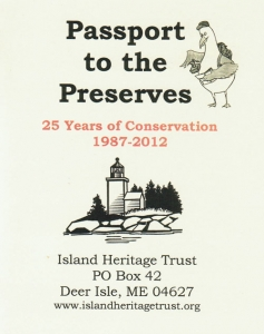 Passport to the Preserves - IHT Letterboxing Passport